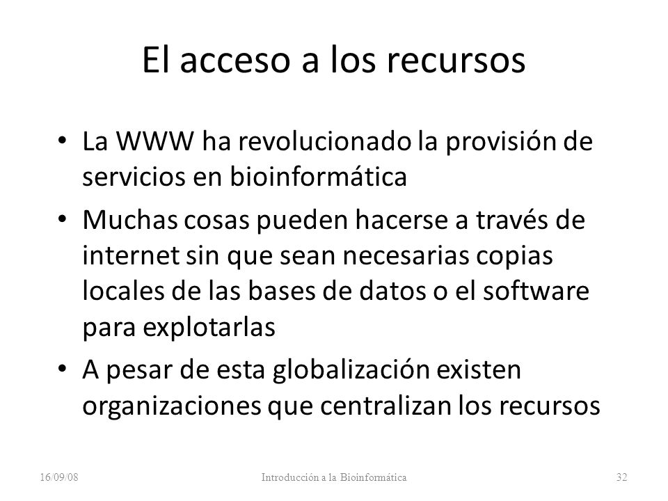 El acceso a los recursos