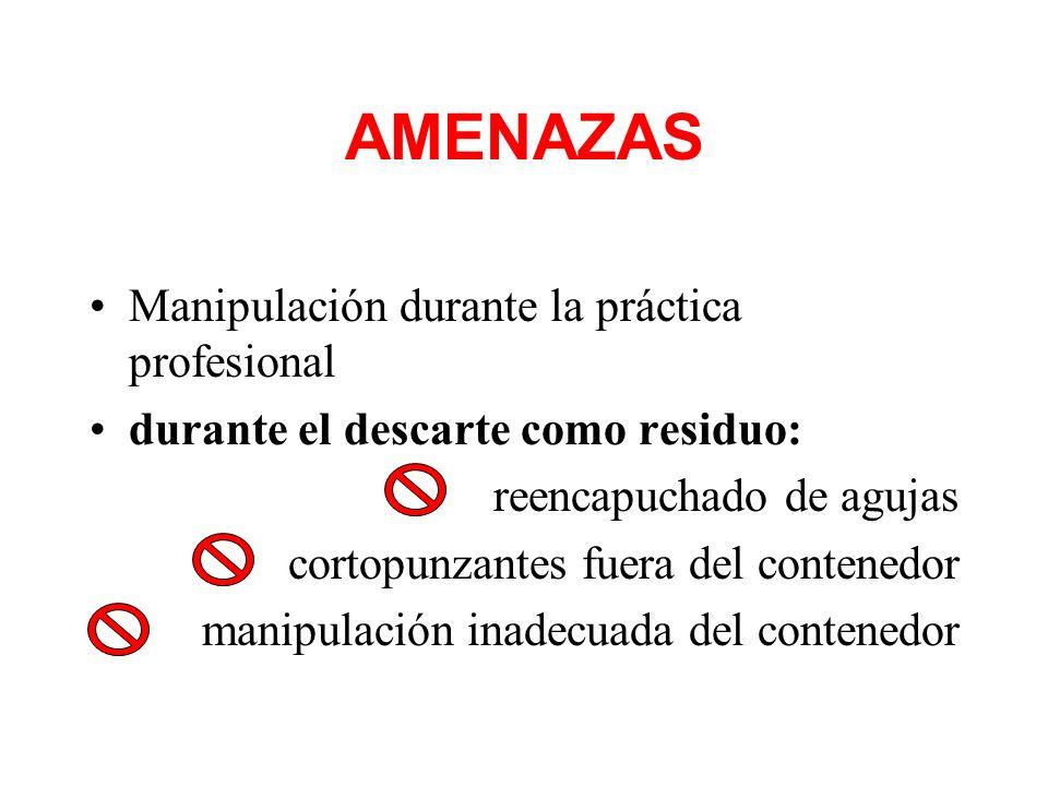 AMENAZAS Manipulación durante la práctica profesional