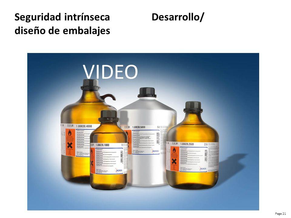 Seguridad intrínseca Desarrollo/ diseño de embalajes
