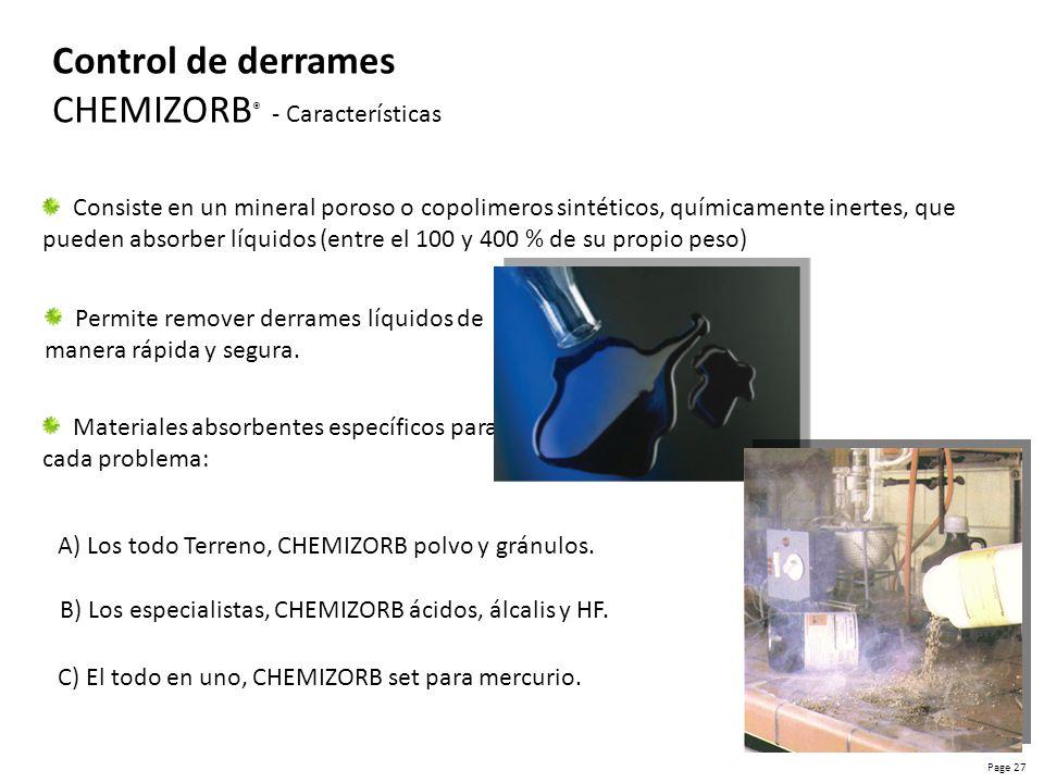 CHEMIZORB® - Características