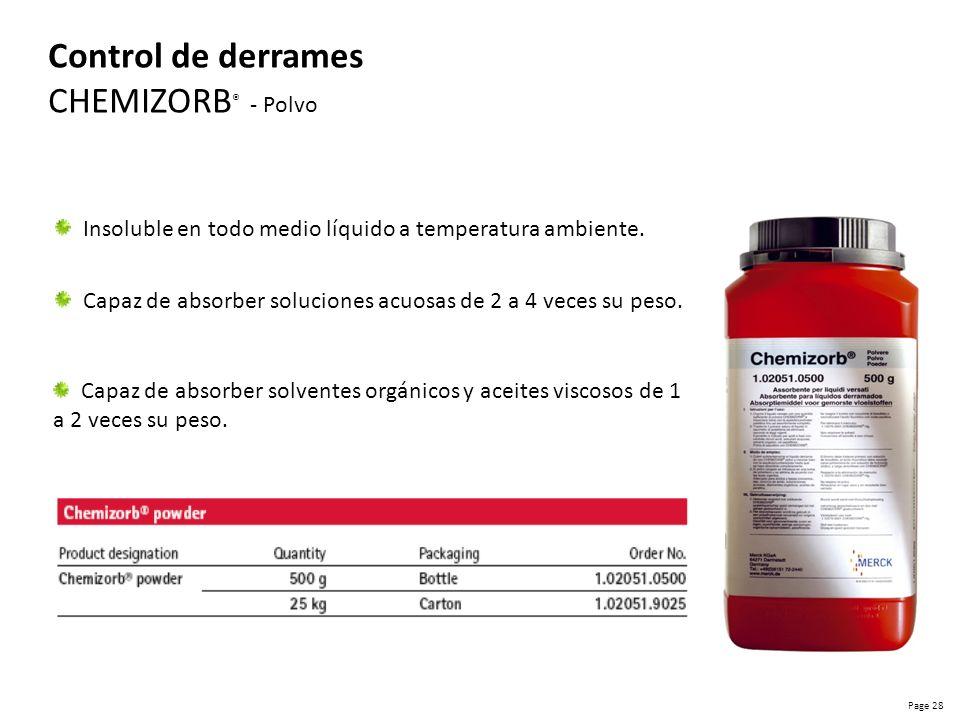 Control de derrames CHEMIZORB® - Polvo