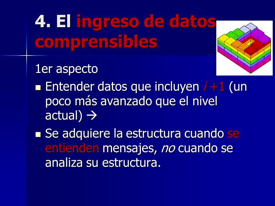 4. El ingreso de datos comprensibles