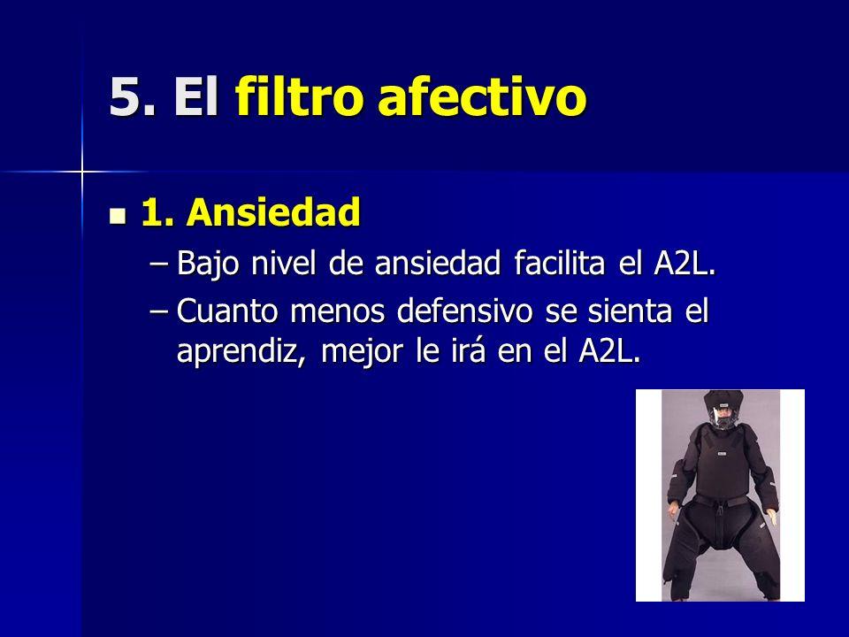 5. El filtro afectivo 1. Ansiedad