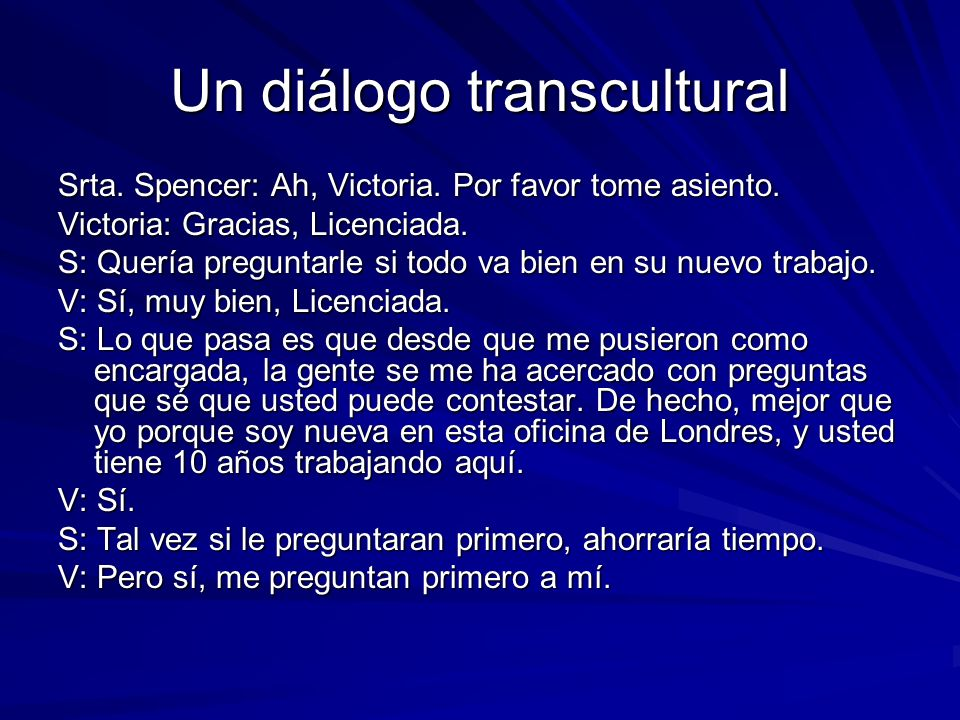 Un diálogo transcultural
