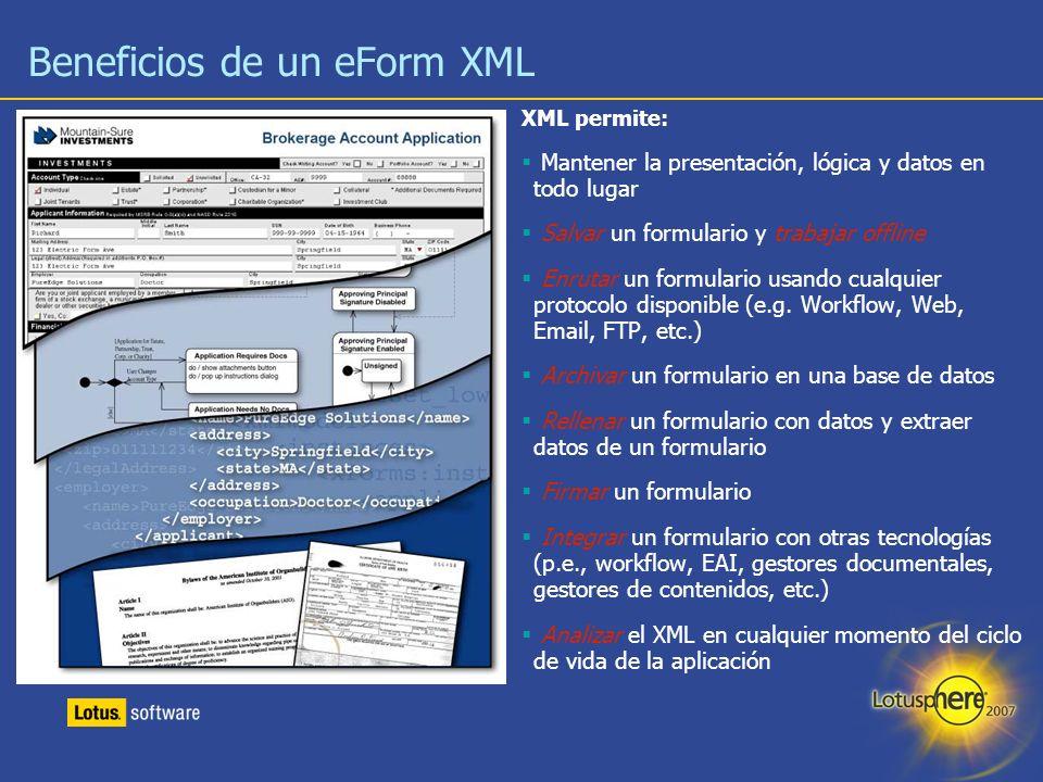 Beneficios de un eForm XML