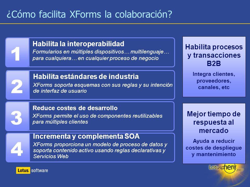 ¿Cómo facilita XForms la colaboración