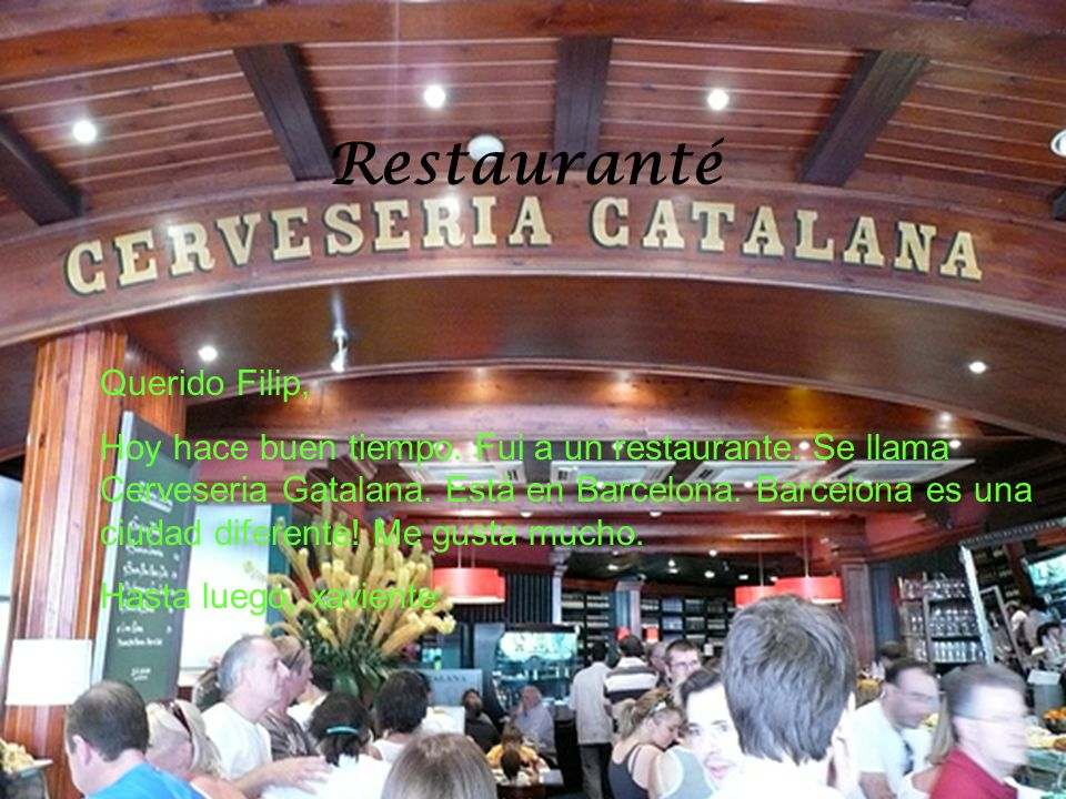 Restauranté Querido Filip,