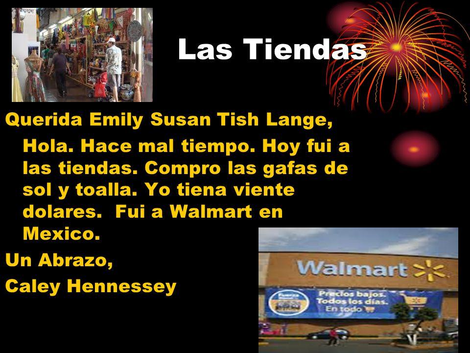 Las Tiendas Querida Emily Susan Tish Lange,