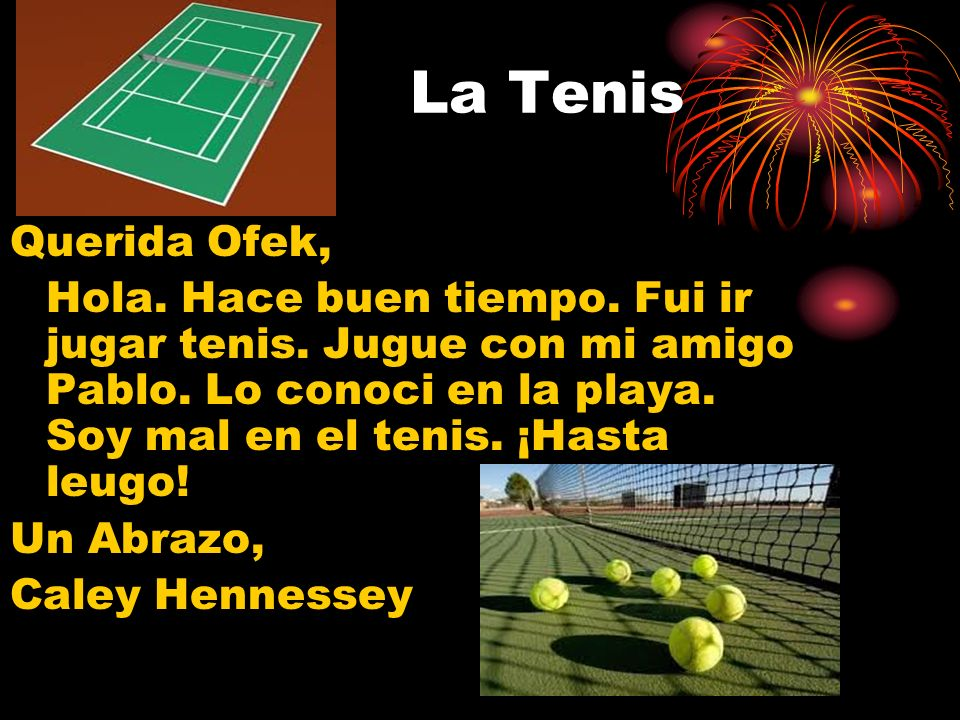 La Tenis Querida Ofek,