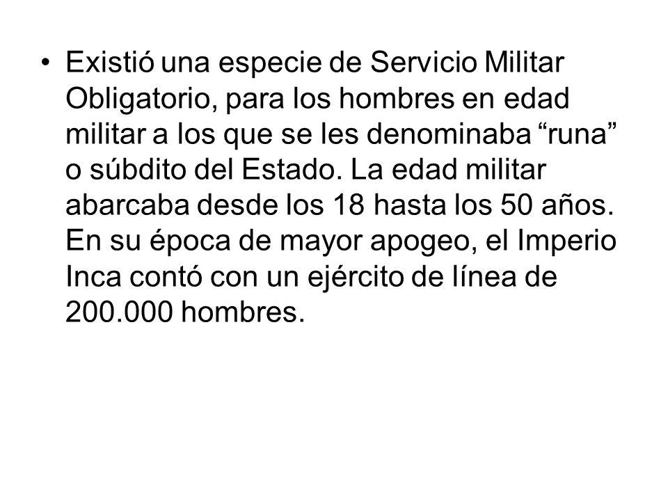 Existió una especie de Servicio Militar Obligatorio, para los hombres en edad militar a los que se les denominaba runa o súbdito del Estado.