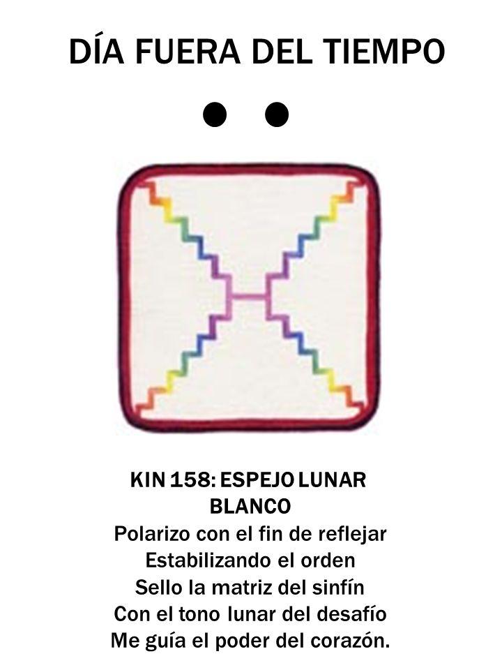 DÍA FUERA DEL TIEMPO KIN 158: ESPEJO LUNAR BLANCO