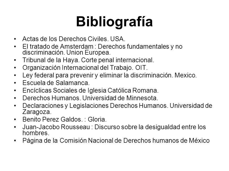 Bibliografía Actas de los Derechos Civiles. USA.