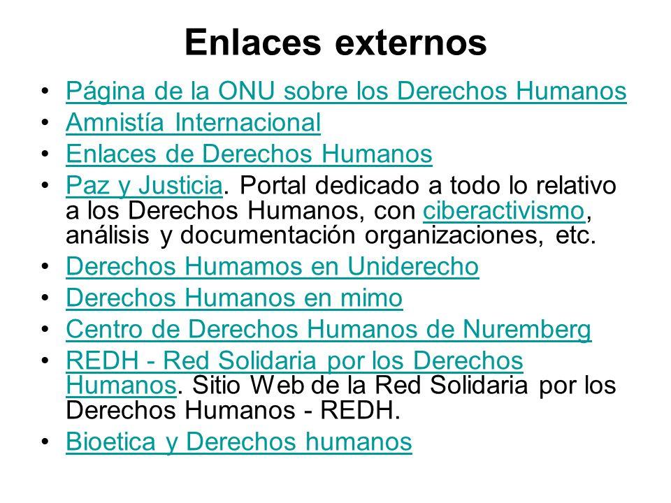 Enlaces externos Página de la ONU sobre los Derechos Humanos