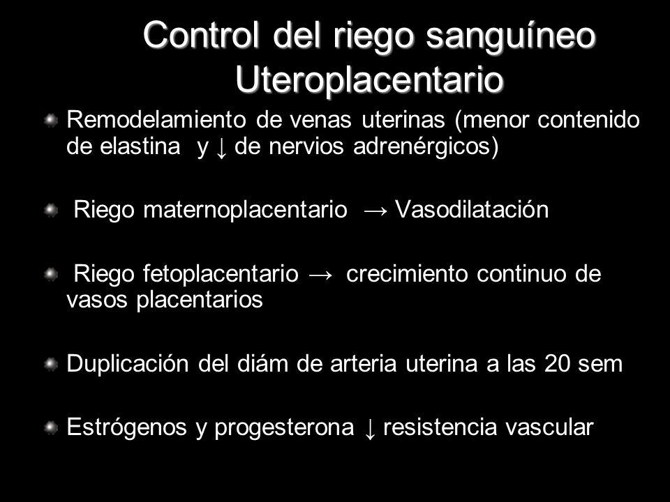 Control del riego sanguíneo Uteroplacentario