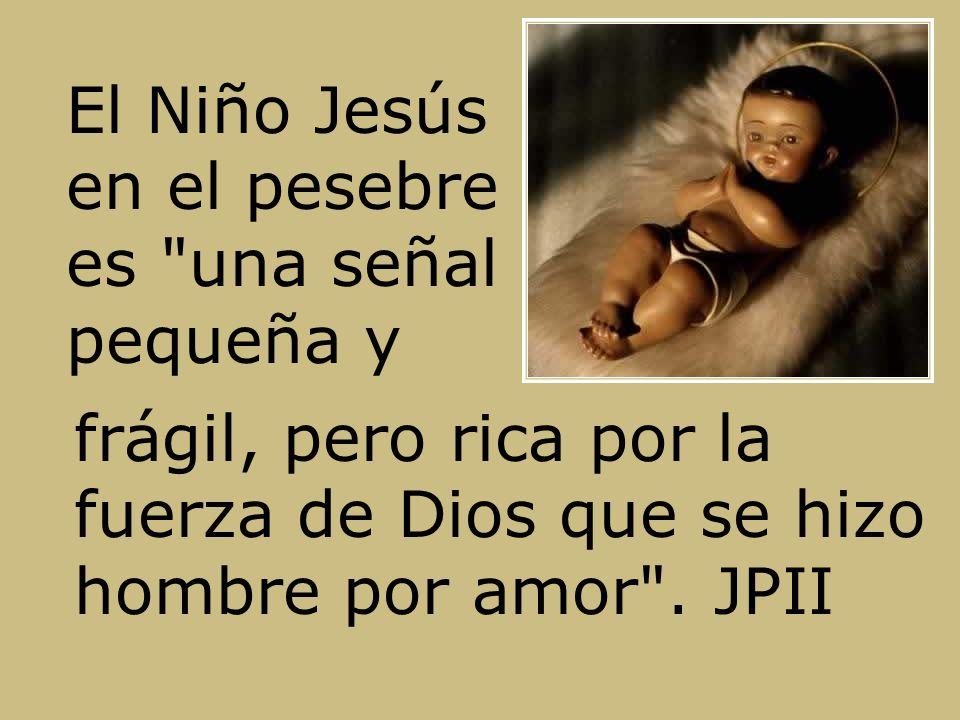 El Niño Jesús en el pesebre es una señal pequeña y