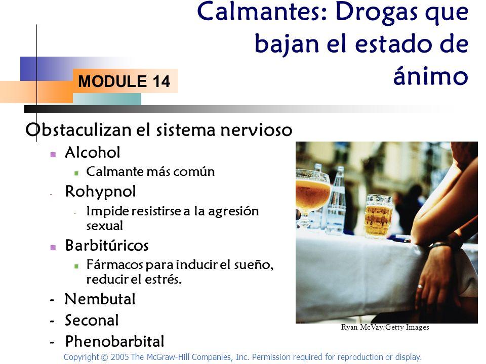 Calmantes: Drogas que bajan el estado de ánimo