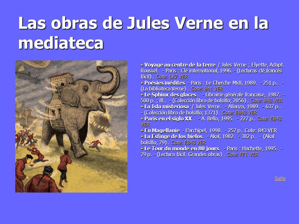 Las obras de Jules Verne en la mediateca