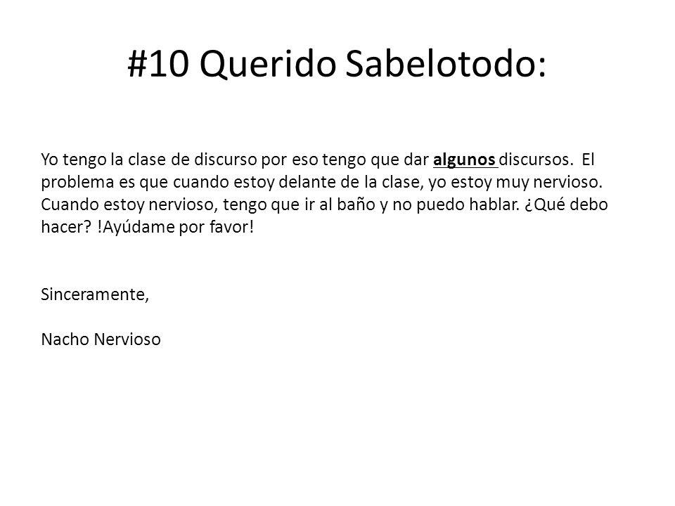 #10 Querido Sabelotodo: