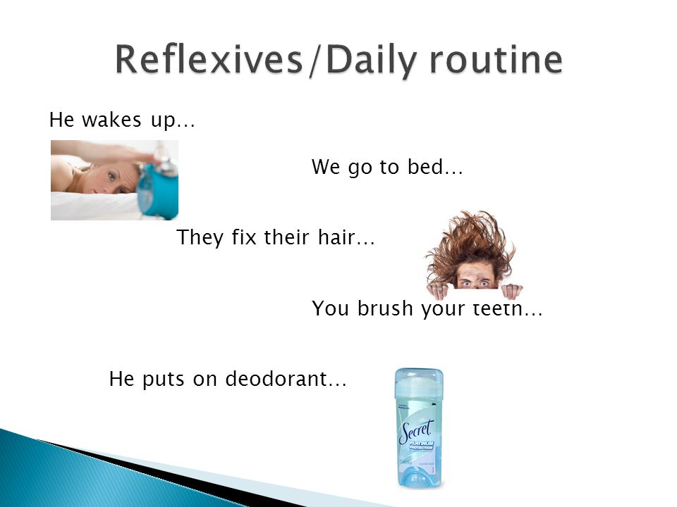 Reflexives/Daily routine