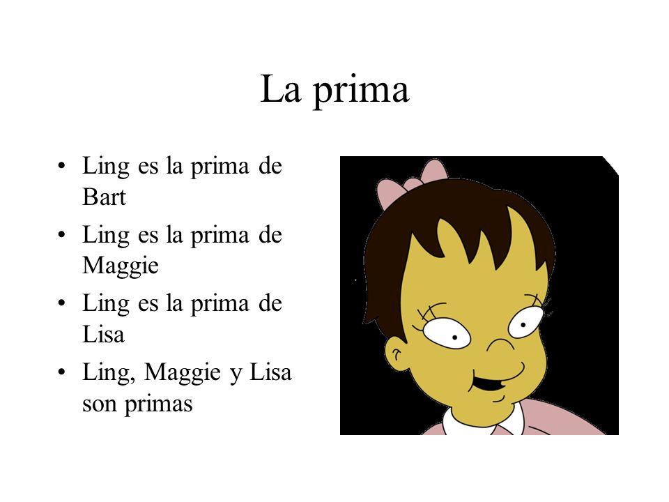 La prima Ling es la prima de Bart Ling es la prima de Maggie