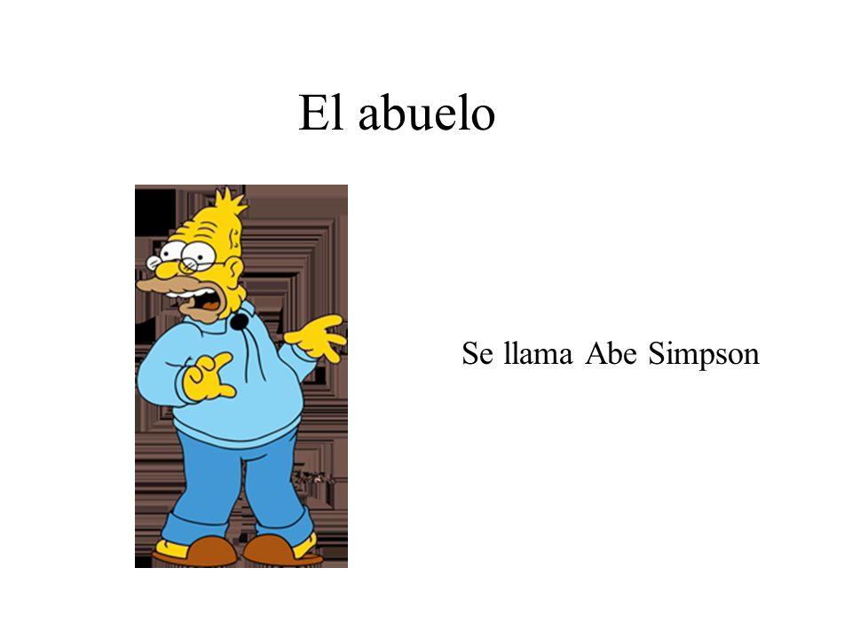 El abuelo Se llama Abe Simpson