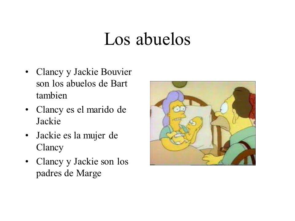 Los abuelos Clancy y Jackie Bouvier son los abuelos de Bart tambien