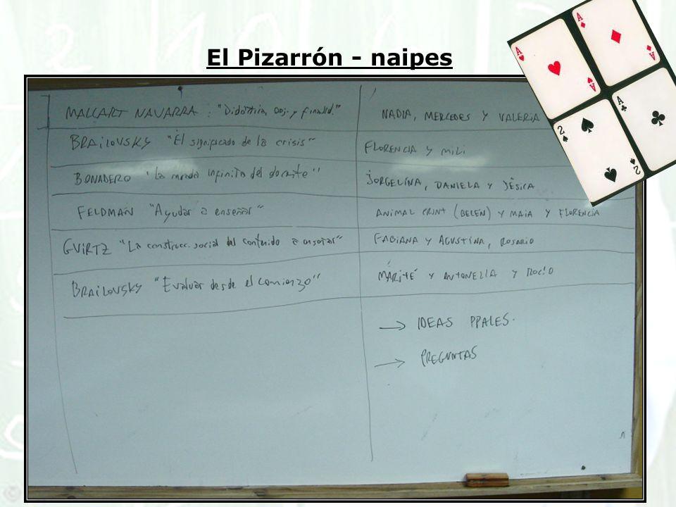 El Pizarrón - naipes