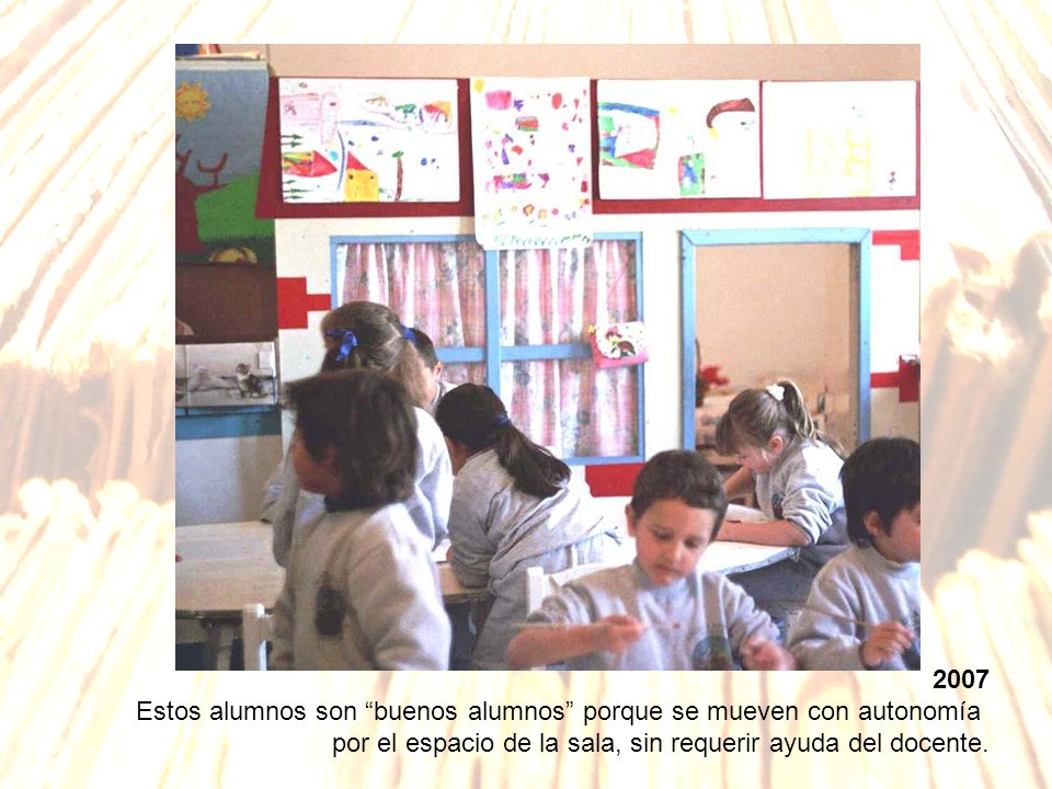 2007Estos alumnos son buenos alumnos porque se mueven con autonomía.