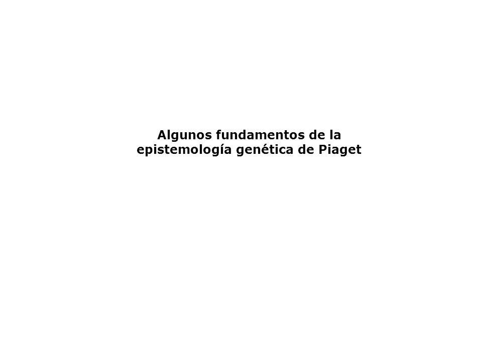Algunos fundamentos de la epistemología genética de Piaget