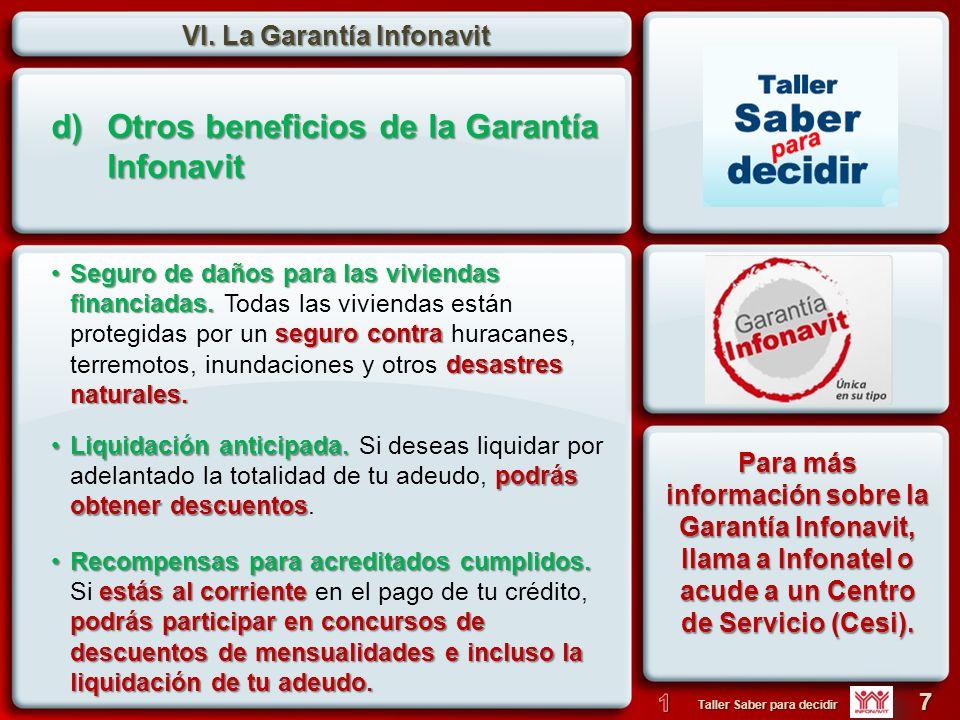 Otros beneficios de la Garantía Infonavit