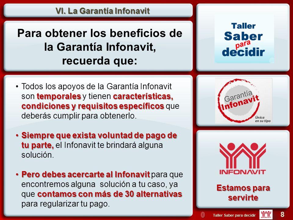Para obtener los beneficios de la Garantía Infonavit,