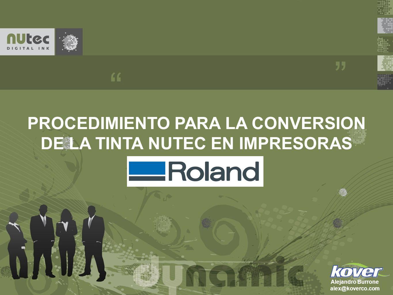 PROCEDIMIENTO PARA LA CONVERSION DE LA TINTA NUTEC EN IMPRESORAS