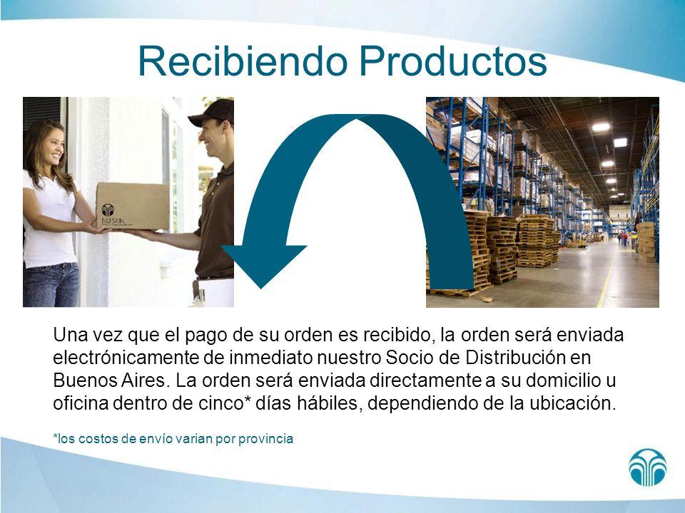 Recibiendo Productos