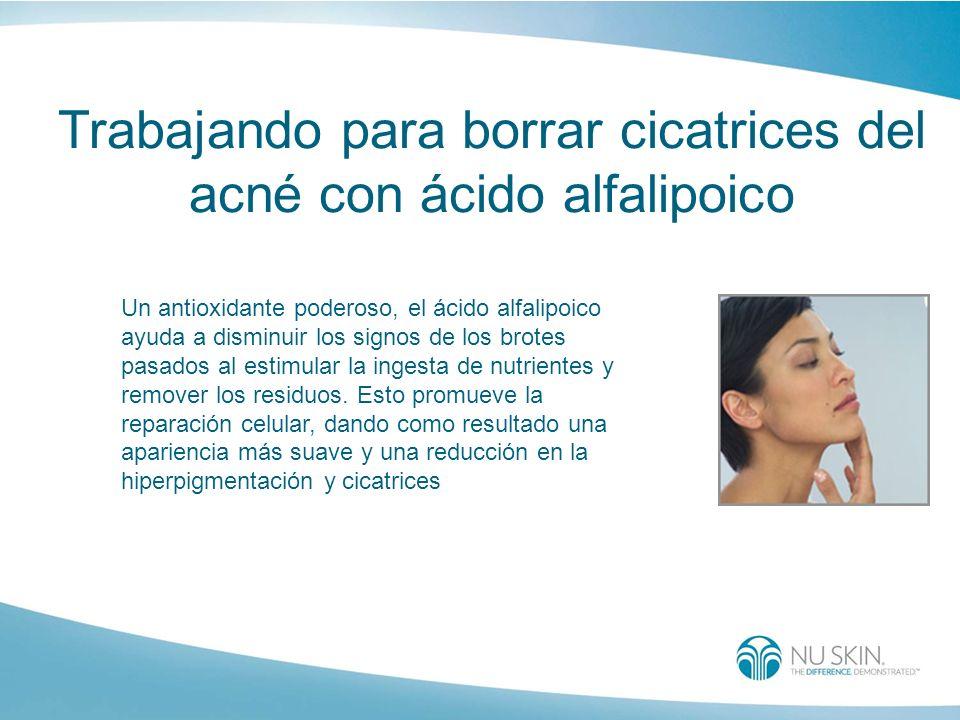 Trabajando para borrar cicatrices del acné con ácido alfalipoico
