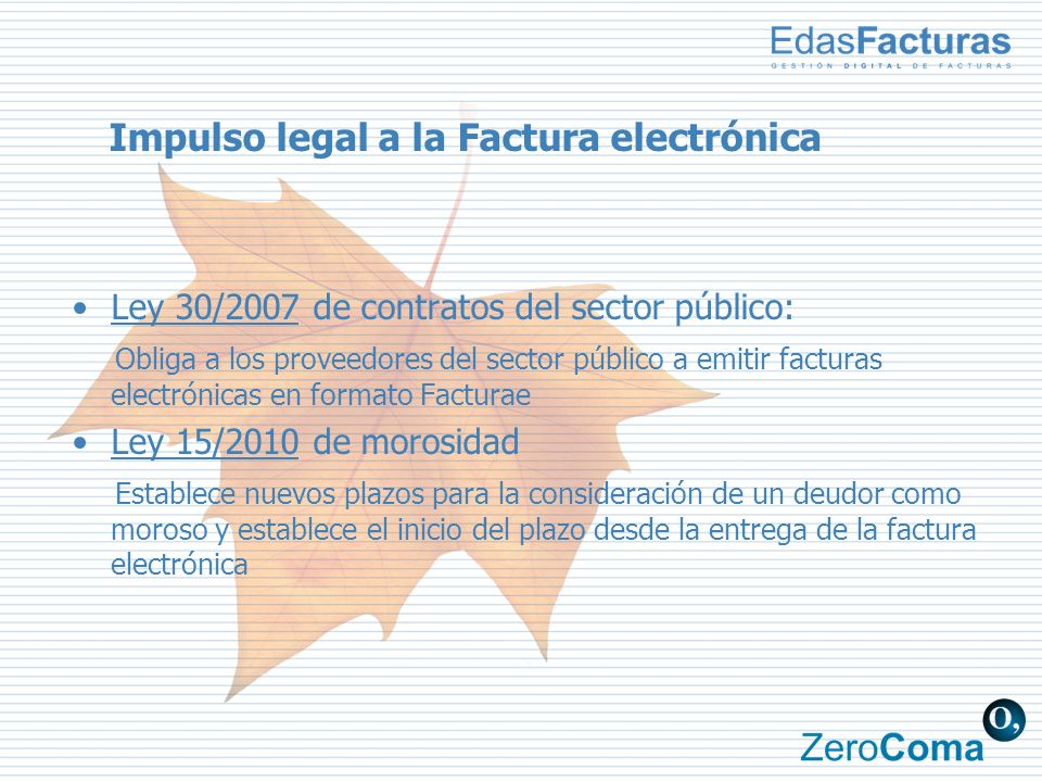Impulso legal a la Factura electrónica