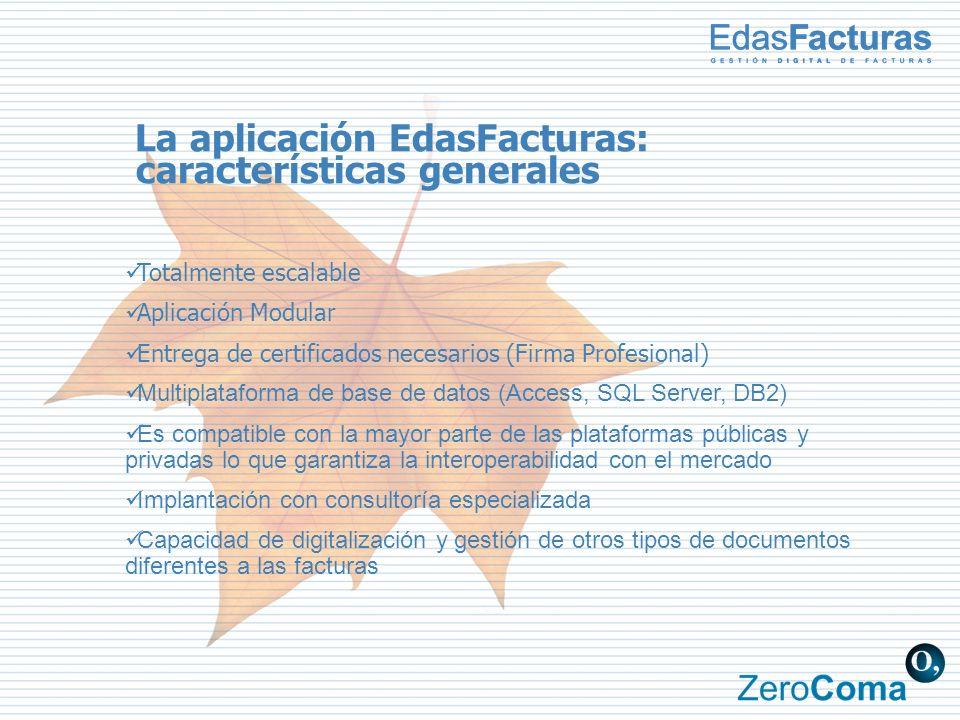 La aplicación EdasFacturas: características generales