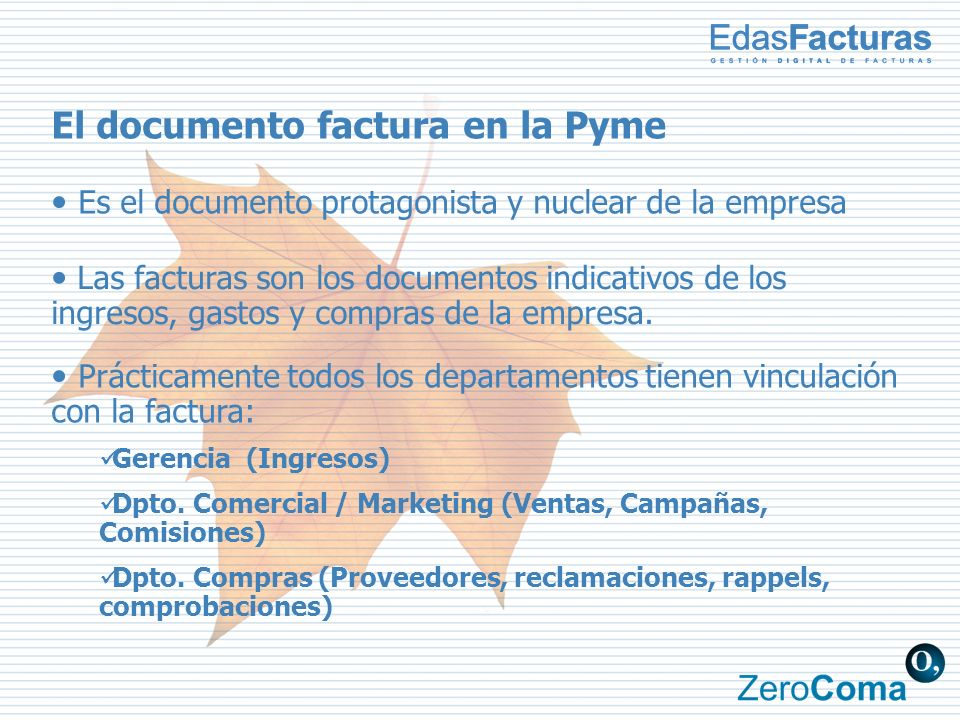 El documento factura en la Pyme