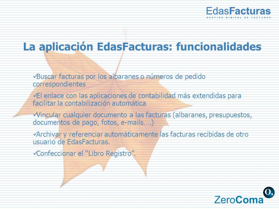 La aplicación EdasFacturas: funcionalidades