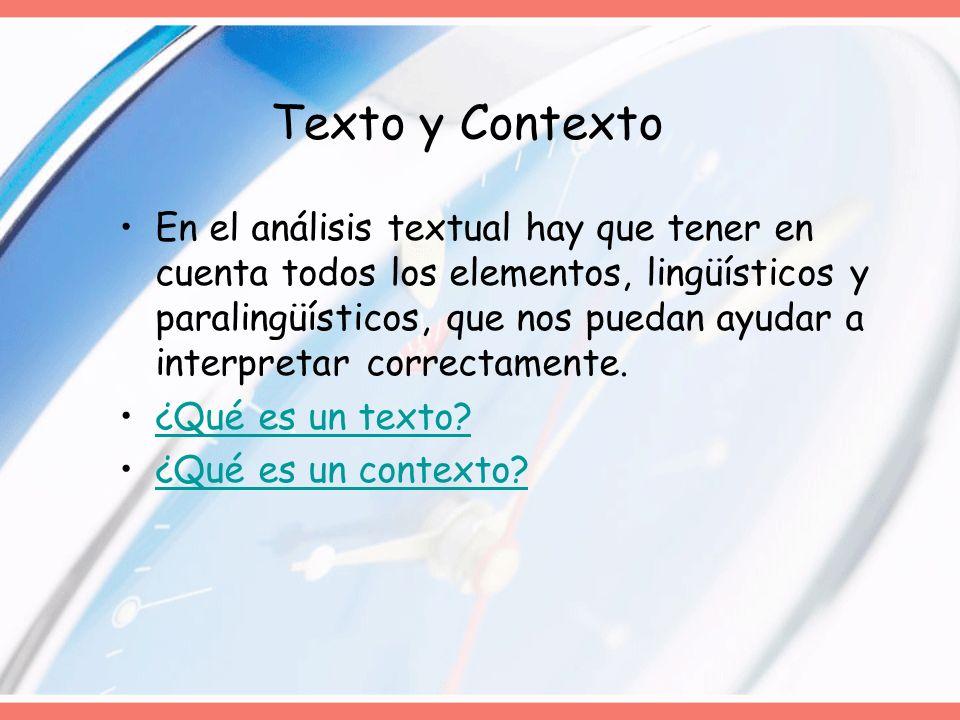 Texto y Contexto