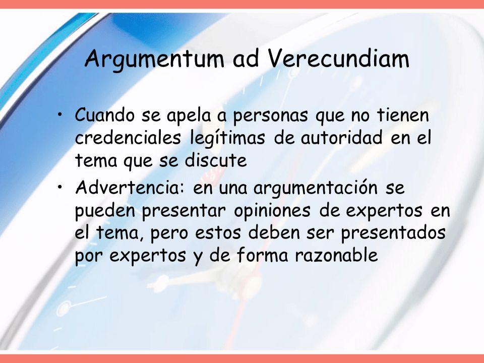 Argumentum ad Verecundiam