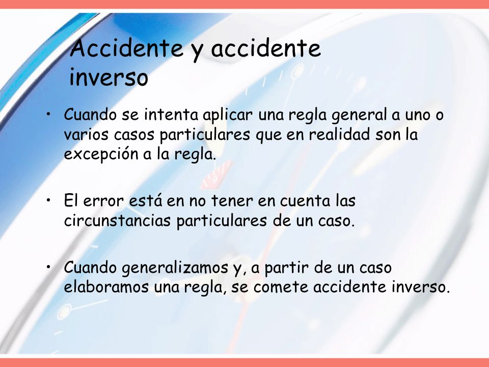Accidente y accidente inverso