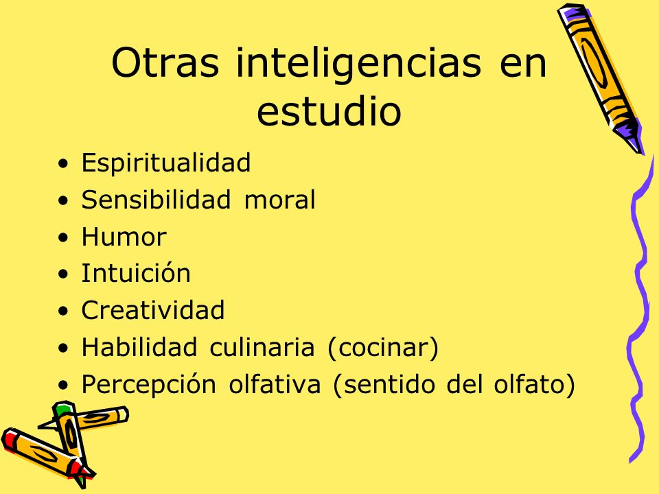 Otras inteligencias en estudio