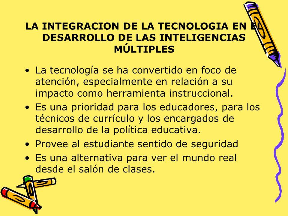 LA INTEGRACION DE LA TECNOLOGIA EN EL DESARROLLO DE LAS INTELIGENCIAS MÚLTIPLES