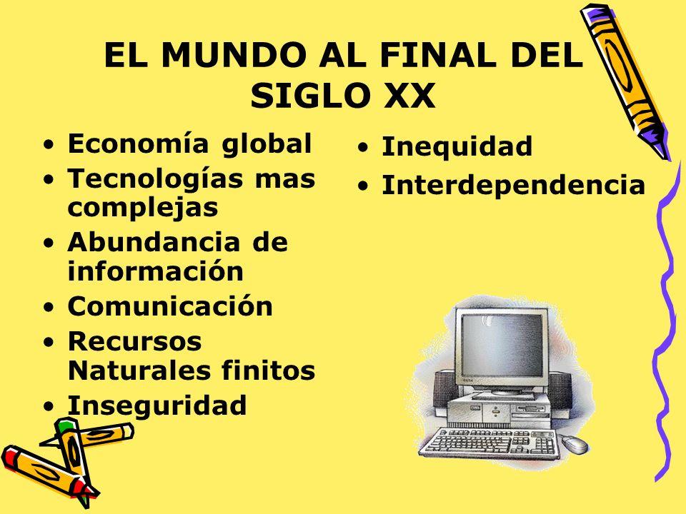 EL MUNDO AL FINAL DEL SIGLO XX
