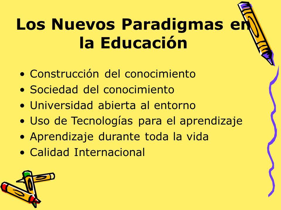 Los Nuevos Paradigmas en la Educación