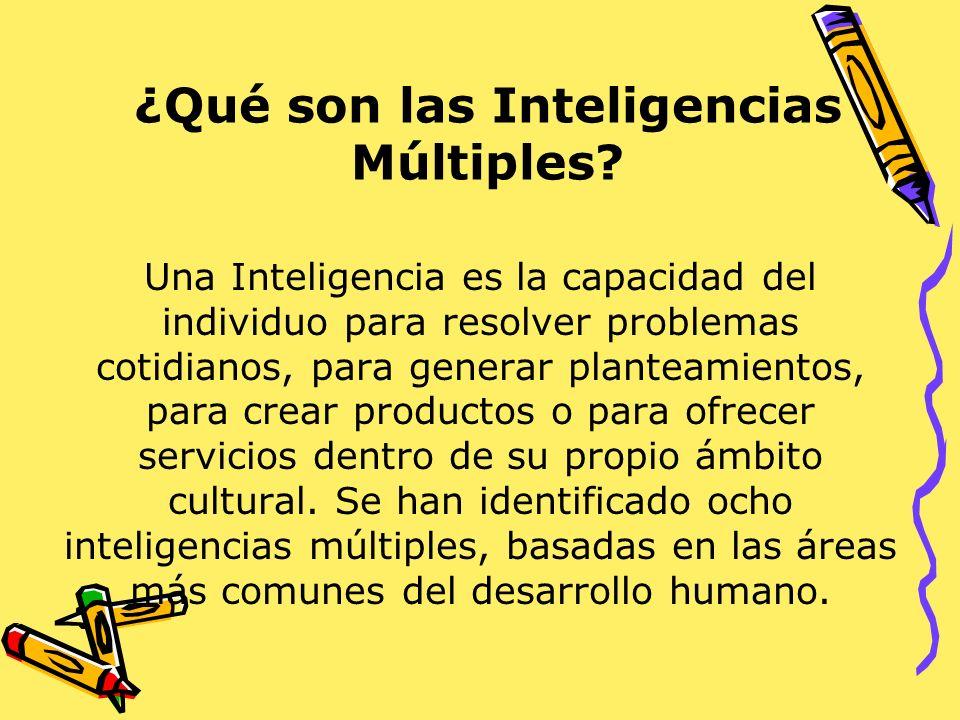 ¿Qué son las Inteligencias Múltiples