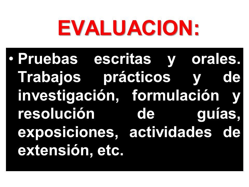 EVALUACION: