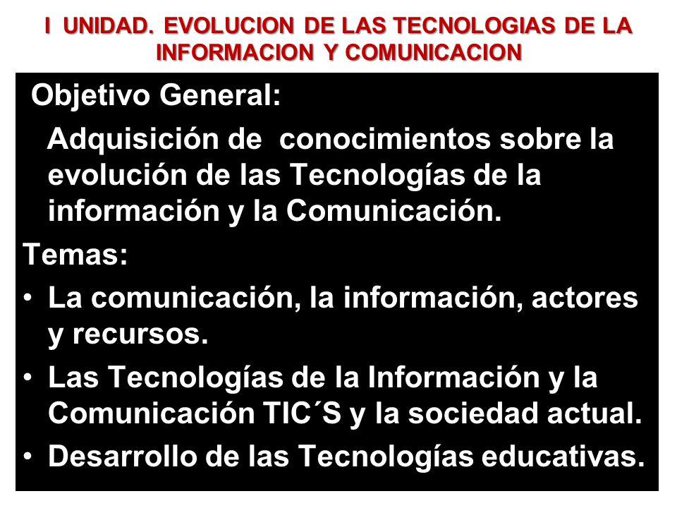 La comunicación, la información, actores y recursos.