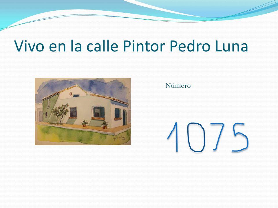 Vivo en la calle Pintor Pedro Luna