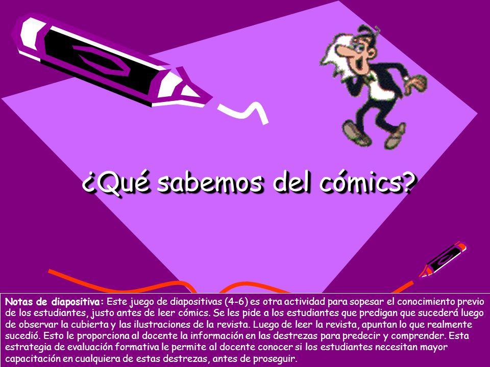 ¿Qué sabemos del cómics